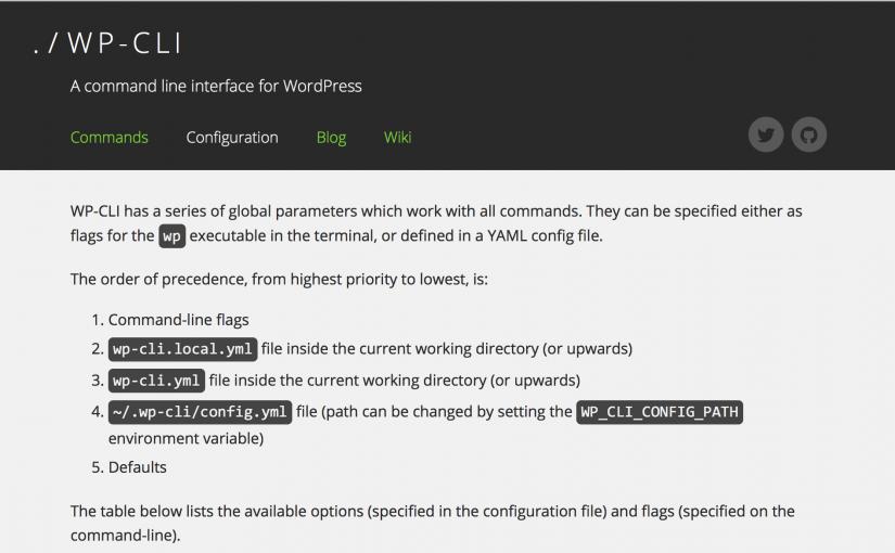 テーマレビュー用の真新しい環境を1分で作成する。WP-CLI Advent Calendar 2014 19日目