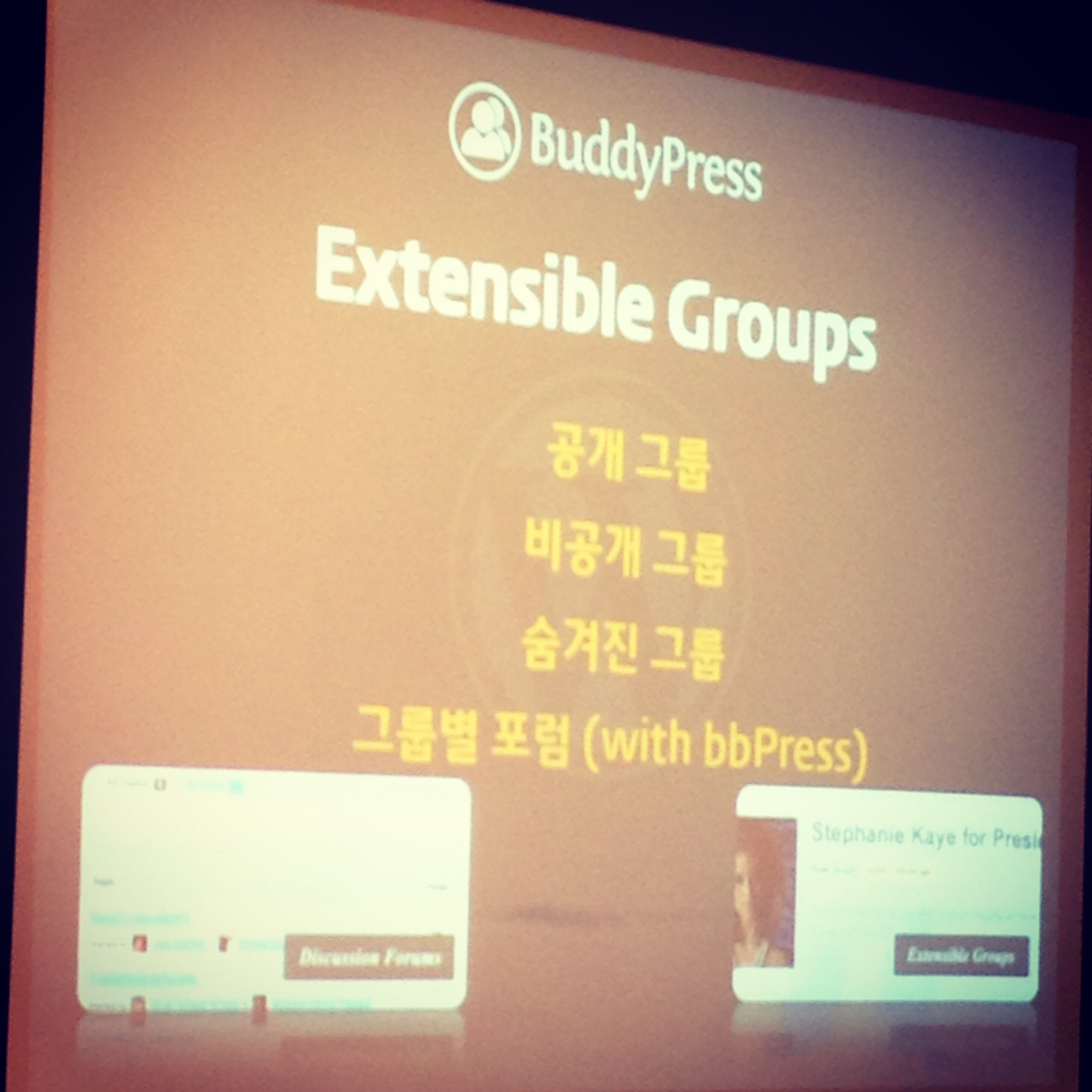BuddyPressの機能を軽く全部紹介していました