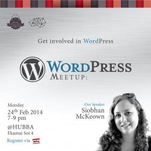 """バンコクWordPressの会、英語の部""""Get involved with WordPress""""2月版レポート"""