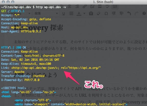 WP REST API が追加したHEADER 情報。